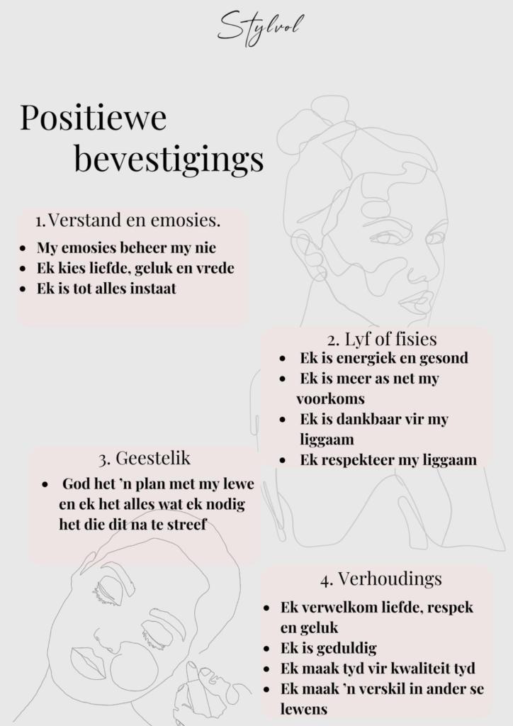 Rolene Strauss gee raad: gebruik positiewe bevestiging